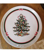 "Topco Ribbons and Tree Stoneware Cake Plate 11.5"" - $15.00"