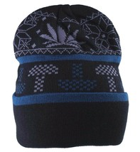 LRG Lifted Research Group Black Mushroom Weed Alpine Devine Beanie Winter Hat NW image 1