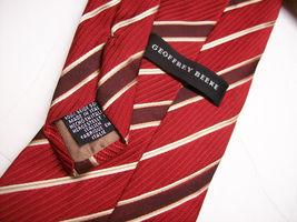 GEOFFREY BEENE  Red STRIPE Made ITALY  Mens 100 SILK Necktie  s 6-61 image 3