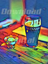 Digital download drink vodka guineess black beer Wallpaper Painting Wate... - $3.00