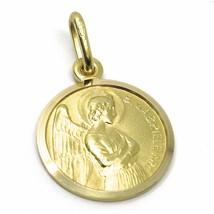 Pendentif Médaille or Jaune 750 18K, San Archange Gabriel, 15 MM Diamètre image 1
