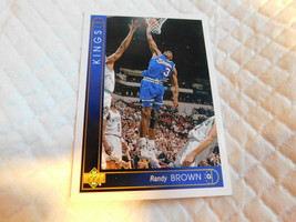 1993 Upper Deck,Sacramento Kings,Basketball #114(Randy BROWN) - $4.95