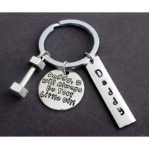 I'll always be your little girl Father's Key Chain, Personalize daddys k... - $13.30