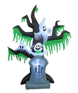 9' Halloween Inflatable Ghosts Tombstone Airblown Party Yard Decoration ... - $2.625,19 MXN