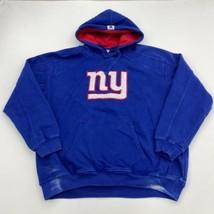 NFL Hoodie Mens 2XL XXL Blue Drawstring Tie New York Giants Kangaroo Pockets - $24.95