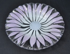 Art Glass Flower Signed Syd Rossled Tray Dish - $59.35