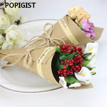 POPIGIST® Wedding Favor Flower Holder Ice Cream Style DIY Kraft Paper Cones - $35.48