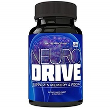 NeuroDrive Premium Brain Health and Focus Supplement, Memory and Mental ... - $74.13