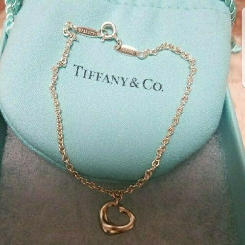 16a3b152e Tiffany & Co Elsa Peretti Sterling Silver Open Heart Bracelet 7.4