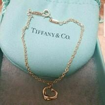 """Tiffany & Co Elsa Peretti Sterling Silver Open Heart Bracelet 7.4"""" Free Shipping - $88.19"""