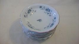Johann Haviland Bavaria Germany Blue Garland China 8 Dessert or Fruit Bowls - $66.83