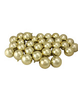 """32ct Champagne Gold Shatterproof Shiny Christmas Ball Ornaments 3.25"""" - ... - $59.95"""