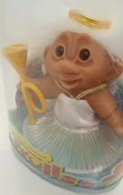 Original Good Luck Troll DAM Doll 2006 New #63800 White Angel Trumpet Dr... - $29.69