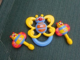 Lot Of Little Tikes Musical Instrument Toys Tambourine  & Maracas Rattles - $19.95