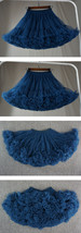 TEAL Blue Tiered Short Tulle Skirt Outfit Plus Size Teal Blue Puffy Tulle Skirt  image 5