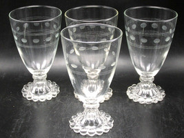 "set/4 Anchor Hocking AHC3 Berwick Boopie Water Goblets - 5.5"" - $21.98"