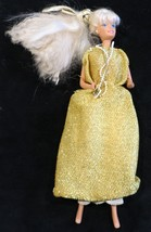 Mattel 1966 Barbie - Wearing Gold Dress - Made in Malaysia - $9.89