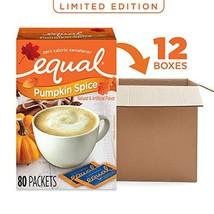 EQUAL Pumpkin Spice Zero Calorie Sweetener, Sugar Substitute, 80 Count Pack of 1