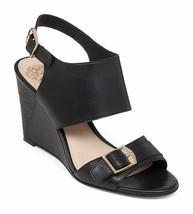 Vince Camuto Xylina Wedge Sandals Women Sizes 6.5-10 Black New Vachett VC-XYLINA - $89.95