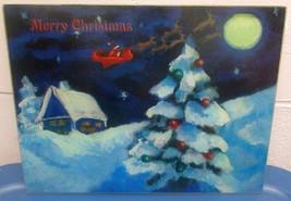"Glass Cutting Board, Merry Christmas, Christmas Tree At Night (12"" X 16"") - $9.89"