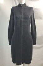 Calvin Klein Gray Zipped Long Sweater Jacket, Womens Size L - $18.99
