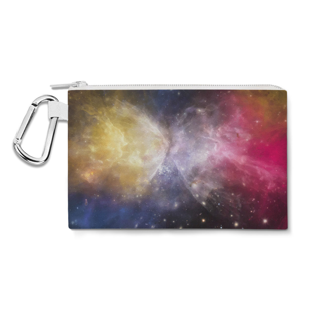 Galaxies Meeting Canvas Zip Pouch