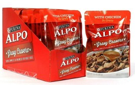 12 Count Purina 3.5 Oz Alpo Gravy Cravers With Chicken Adult Dog Food BB 3/2022 - $23.99