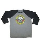 Guns N Roses-Classic  Distressed Seal-XXL Raglan Baseball Jersey T-shirt - $21.76