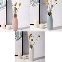 Origami Geometric Imitation Ceramic Look  Plastic Vase Home Office Decor... - $8.68
