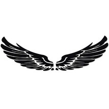 Decorative Wing Car Body Sticker Angel Wings Personality Reflective