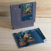 SUPER PITFALL WITH BOOK MANUAL NES Nintendo Video Game Cartridge Vintage  - $29.99