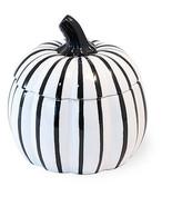 White & Black Pumpkin Dish with Lid Set of 2 by Boston International - $24.70
