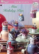 Mini Holiday Pots TNS Plastic Canvas Pattern Leaflet New - $1.77