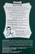 Proraso After Shave Lotion, Refreshing and Toning, 3.4 fl oz image 2