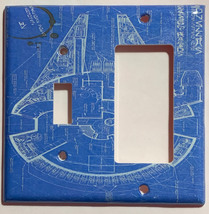 Star Wars Millennium Falcon Blueprint Switch Outlet wall Cover Plate Home Decor image 9