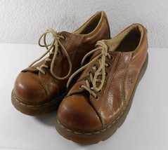 Dr. Martens Womens Shoes Chunky Oxfords Size 8 Brown Leather Lace Up Air... - $39.59