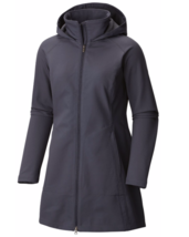$190 Columbia Womens sizes XS Small Long Softshell Trench Jacket Belted ... - $80.47