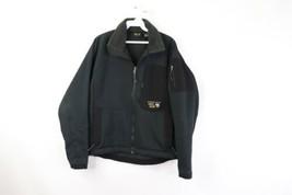 Mountain Hardwear Mens Small Outdoor Hiking Full Zip Soft-Shell Jacket Black - $39.55