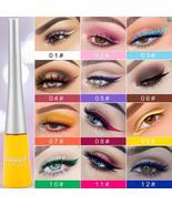 12-color matte Cat Eye Makeup Waterproof Neon Colorful Liquid Eyeliner P... - $11.00