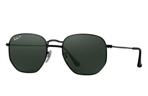 343e1e8913 New Ray Ban RB3548N 002 58 51mm Black Frame Flat Crystal Green Polarized -  €96