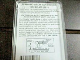 Micro-Trains Stock # 004002400 (961) Diamond Arch Bar Trucks Nn3 1 Pair image 3