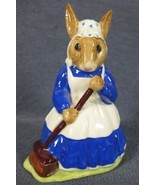 Royal Doulton Mrs Bunnykins Clean Sweep DB6 England Vintage Retired Eart... - $27.95