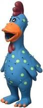 Multipet's 11.5-Inch Latex Polka Dot Globken Chicken Dog Toy - £12.02 GBP