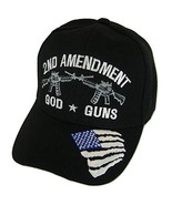 American 2nd Amendment God Guns Baseball Caps (Black) - $12.25