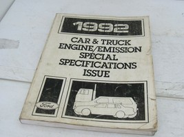 1992 Ford Car & Truck Repair Manual Engine & Emissions Special Specifications - $14.80