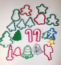 Mixed Lot Of 20 Christmas Holiday Cookie Cutters - $7.70