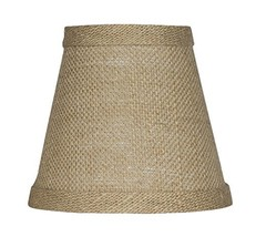 "Urbanest Chandelier Lamp Shade 3x5x4.5"", Hardback, Clip On, Burlap - $9.89"