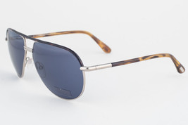 Tom Ford Cole Havana Silver / Blue Sunglasses TF285 53V