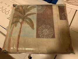 """Tropical Palm Cloth Shower Curtain (78"""" W x 72"""" L; pre-owned) - $35.00"""