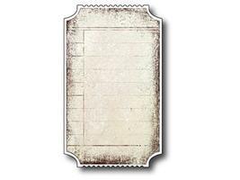 Memory Box Blank Ticket Die #98213